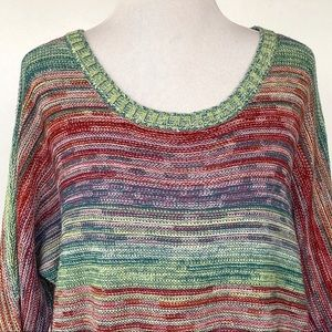 New Directions Tunic Size Large Multi-Color